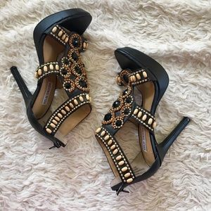 KELSI DAGGER Grace Beaded Platform Heels Sandals